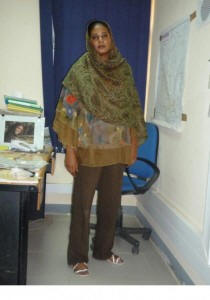 Lubna al Hussein with pants